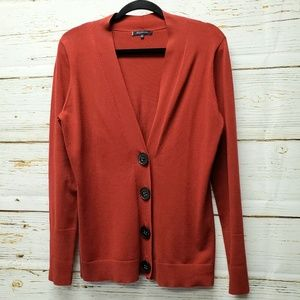 Anne Klein Red Cardigan